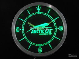 Wholesale nc0168 Arctic Cat Snowmobiles Neon Sign LED Wall Clock