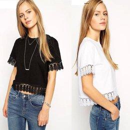 2015 Fashion lusas femininas Summer lace women blouse tops White Casual short sleeve Top Plus Size top Shirts For Women blusas