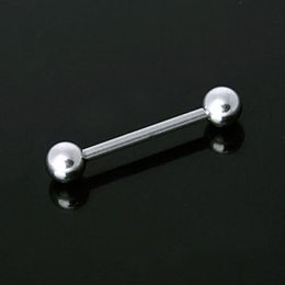 Wholesale Gift Gauge L Surgical Steel Body Tongue Nipple Ring Sliver