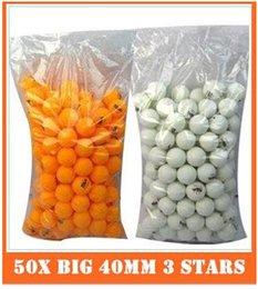 new wholesale Free Shipping 50X Big 40mm 3 Stars Best Table Tennis Balls Ping Pong Balls Ping-Pong Big Balls hight quality free shipping