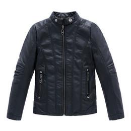 new gentleman Winter boy leather jacket solid black zipper PU jacket coat for 3-12yrs boys infantil children outerwear clothes hot sale
