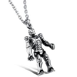 Top quality titanium steel robot pendant necklace for men movie star design N925