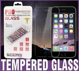 Descuento pantallas digitales Para más 6s Iphone pantalla de cristal templada Protetor Anti-huella digital para el iPhone 6s Samsung Galaxy S6 iphone 7 más la caja al por menor Paquete de Cine