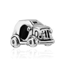 Fashion women jewelry metal loose charms cute mini car European spacer bead charm fits Pandora bracelet