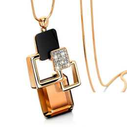 Magic space Pendant Necklace Korean Crystal Sweater Chain Fashion Jewelry Sweater Chain For Women Jewelry MY-00003