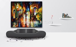 Wholesale Palette Knife Oil Painting the Car at Street Corner Picture Printed on Canvas Mural Art for Living Room Bedroom Wall Decoration