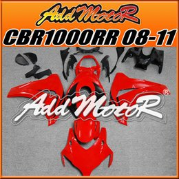 Wholesale Addmotor Injection Mold Aftermarket Fairings Fit Honda CBR1000RR CBR RR Body Kit Black Red H1815 Five Free Gifts