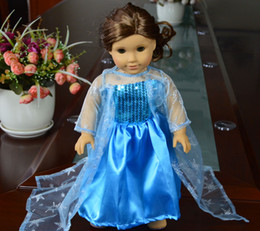 Wholesale hot new style anna frozen dress inch American girl doll clothes and accessories frozen dress girl MG031