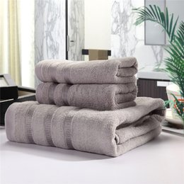 Wholesale 6 Pieces Pieces Bamboo Fiber Towel Sets Heavy Weight High Water absorbent Antibacterial Bath Towel Face Towel