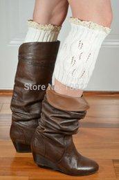 Wholesale-20pcs lot Women boot cuffs fashion sex ladies knitted lace leg warmers fuzzy crochet boot socks crochet boot topper