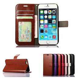 Wholesale Wallet PU Leather Case Cover Pouch with Card Slot Photo Frame for iPhone S PLUS Galaxy S5 S6 EDGE NOTE