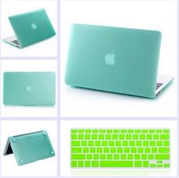 Promotion macbook shell 13 Mat Caoutchouté avec étui à Coque en Silicone Couvercle du clavier pour les Nouveaux Mackbook pour Macbook Air Pro Retina 11 13 15 Pouces cas de la livraison gratuite