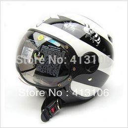 Al por mayor-ZEUS casco 210C Negro blanco MOMO de la motocicleta, envío libre, almohadillas de verificación extraíble y lavable, visera extraíble, aprobado ECE desde visera extraíble casco proveedores