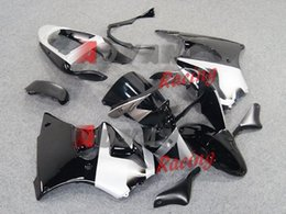 Painted black and white with custom plastic injection molding fairing Kawasaki Kawasaki Ninja ZX6R 2000-2002 32 006