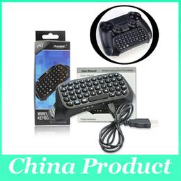Joystick usb en Línea-Mini PS4 teclado inalámbrico Bluetooth para PS4 Game Controller Gamepad Joystick Mensaje Chatpad Sony Playstation Micro Cable USB 010206
