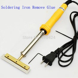 Wholesale LOCA Glue Clean Tool W mm Soldering iron with T Type Solder Iron Tip Blade Glue Remove LCD Screen Separator Repair Machine