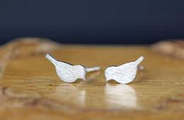 10Pair- S016 Gold Silver Small Vivid Love Bird Stud Earrings Cute Crane Stud Earring Tiny Baby Bird Earrings Stud Animal Jewelry