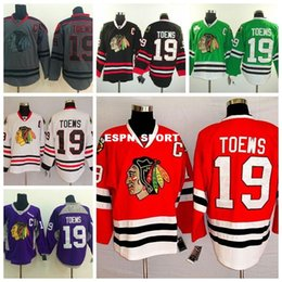 Factory Outlet, Chicago Blackhawk Jerseys Toews Cheap Jonathan Toews Jersey authentic 19 Mens chicago blackhawks Hockey jerseys Red Grey Gre