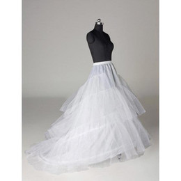 Layers Tulle 3 Hoops Petticoat Crinoline for Dresses with Train Free Size Wedding Dresses Underskirt Petticoat Slip CPA211
