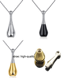High quality Love openable 316L Stainless Steel Cremation perfume bottle Memorial Ash Urns Lockets Pendant Necklace Urns Jewelry N3
