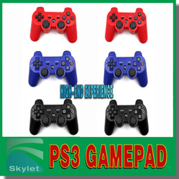 Wholesale Six Axis PS3 Game Controller PS Gamepad Controller Wireless Bluetooth Joystick Game Controller For Sony Playstation Pieces DHL Free