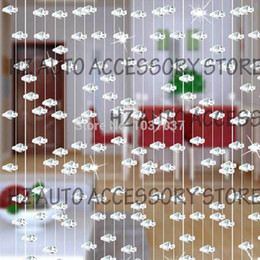 Wholesale Clear Glass Crystal Garland - 5 strands Crystal Clear Glass Bead Garland window door curtain passage wedding backdrop wedding centerpieces