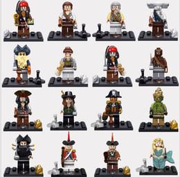 Wholesale 480pcs Building Blocks Pirates of the Caribbean minifigures figures gggg