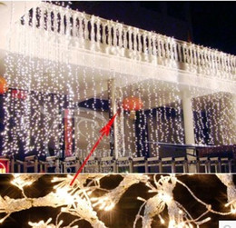 10 * 4 m 1280 led holiday lights string curtain light ice lights Christmas decoration wedding supplies outdoor garden decoration