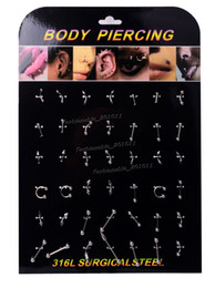 Wholesale 420pcs Fashion Body Jewelry Navel Belly Eyebrow Tongue Piercing Bar Steel