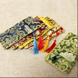 Free shipping Chinese Tranditional Silk statin embroidered Pouch gift cell phone packing mixed color sold per 20pcs
