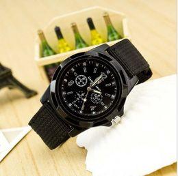 Wholesale new luxury Fashion Gemius Army general canvas belt watch luminous watch needle sports watch waterproof sheet mens watch