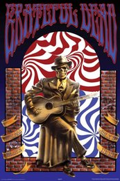 Wholesale Making Room Warm Wall Sticker Grateful Dead Skeleton Chicago Blues July Standard Size x75CM Poster