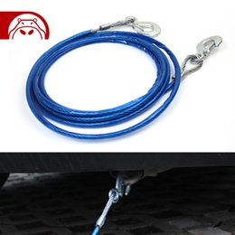 Wholesale Car Emergency mm m Strong Galvanized Steel tow rope with two tow truck hooks