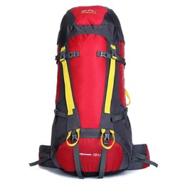 6 colors waterproof outdoor climbing bag backpack camping Women professional climbing bags 75L hiking sports men's backpacks