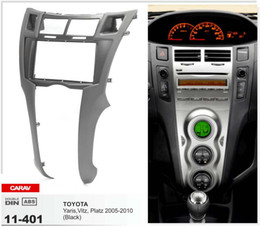 Wholesale CARAV CAR Radio Fascia for TOYOTA Yaris Vitz Platz Black Stereo Panel Facia Plate Dash Trim Kit