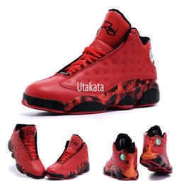 Wholesale With Box Hot Sale Retro XIII Ray Allen Heat University Red Gym Red Men Basketball Sport Sneakers Shoes