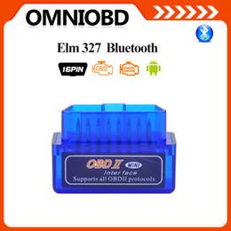 Wholesale 10pcs Mini V2 ELM327 ELM OBD2 Bluetooth Interface Auto Car ScannerOBD2Diagnostic Tool works Android WindowsDHL