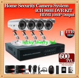 CIA-4ch Channel Home DVR System Indoor & Outdoor Bullet Security Camera CCTV home Security Camera 4CH DVR recorder Kit