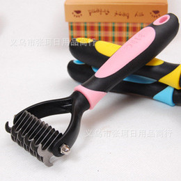 Wholesale Pets Trimmers Blades Dogs Combs Stainless Steel Open The Knot Bakes Make Pet Hair Thin Clipper Dog Grooming Tool Bakes