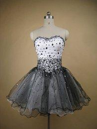 Wholesale Vestidos De Fiesta Mini Short Black Prom Dresses Mini Party Dance Sexy Skirt Black Vestidos de Graduation Dress Prom Gowns