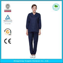 Wholesale OEM hospital workwear scrub sets medical clothing hospital uniform with short sleeve hot sale for summer