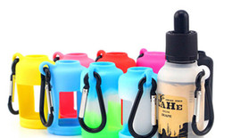 30ML E-liquid Bottle Carrying Case Silicone Flask Case Cover with Keychain for Outdoor Sports and Travelling Hiking