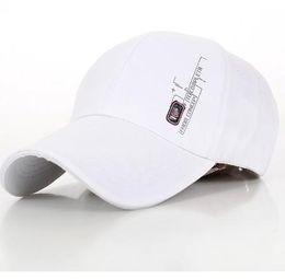 Men's Outdoor Sports White Baseball Caps For Man 2016 Summer Business Casual Sun Visor hat Korean tide Cotton Snapback For Women