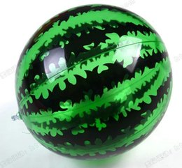 Wholesale new design popular plastic toys inflatable ball baby love watermelon shape water polo