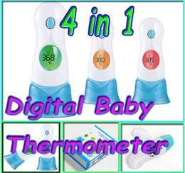 Wholesale multifunction in LED Display igital Baby Thermometer Adult Children Body Forehead Ear baby Infrared Infant Health Care Monitor