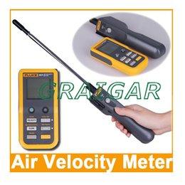 Wholesale Authentic Fluke Air Velocity Meter Hotwire Anemometer Detachable Handheld Air temperature flow rate