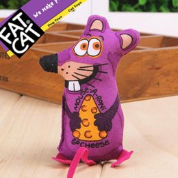 Wholesale 10pcs wholeasle new pets toys good for dog cat fatcat cheese mouse pet funny cat toys containing catnip powder favorites tease