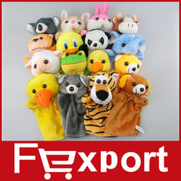 Wholesale Big Hand Puppets Different Animals Learning Education Baby Classic Products Large Babydoll Doll Plush Toys