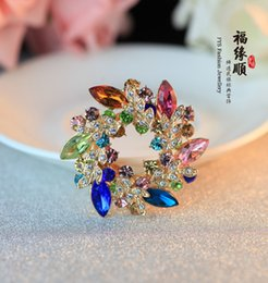 Wholesale Authentic Jing Austrian Crystals Czech Drilling Han Edition Brooch Female Fashion Joker Chain Scarves Buckle Brooches Accessories
