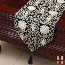 High End Gorgeous Holiday Decoration Table Runners Damask Printed Chinese Style End Table Cloth Fashion Bed Runner multicolor